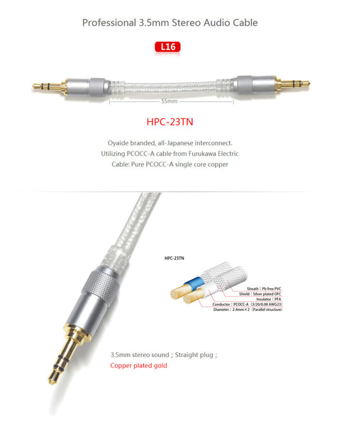 FiiO L16 3.5mm To 3.5mm Stereo Audio Cable With Straight Plugs - AV Shop UK - 2