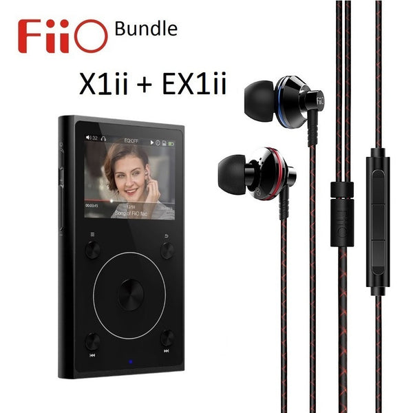FiiO X1ii 2nd Gen Lossless (FLAC/WAV) Music Player + EX1ii 2nd Gen IEMs BUNDLE