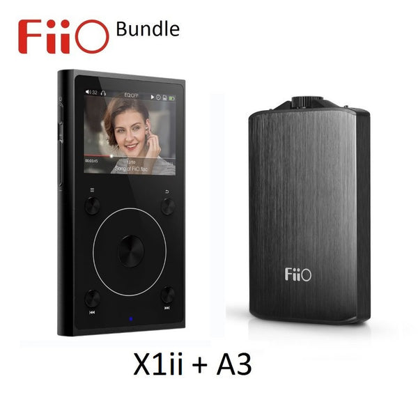 FiiO X1ii 2nd Gen High Res Music (FLAC/WAV/MP3) Player + A3 Headphone Amp BUNDLE - AV Shop UK - 1