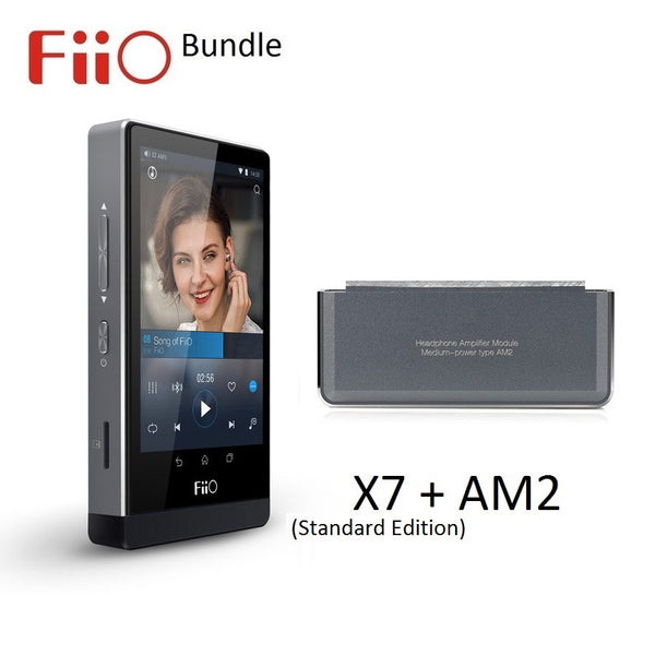 FiiO X7 (Standard Edition) Android Lossless (FLAC/MP3/DXD/PCM) DAP/DAC + AM2 Medium Amp Module BUNDLE - AV Shop UK - 1