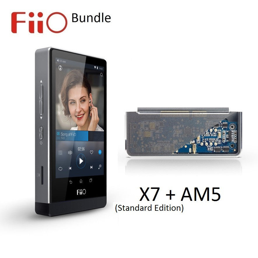 FiiO X7 Android Lossless (FLAC/MP3/DXD/PCM) DAP/DAC + AM5 Power Amp Module BUNDLE - AV Shop UK - 1