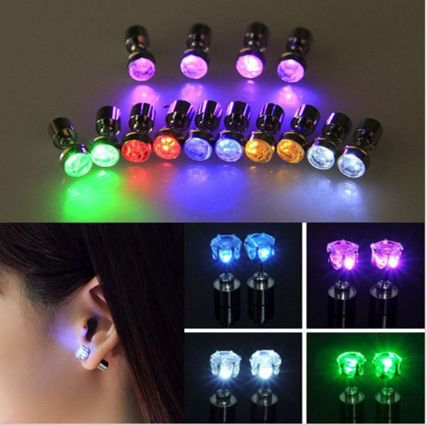 Light Up Earrings - Green