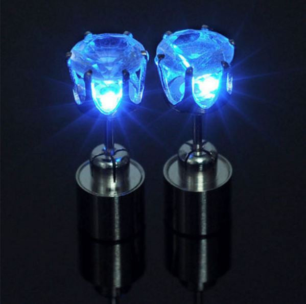 Light Up LED Earrings - Blue - Rave Nations