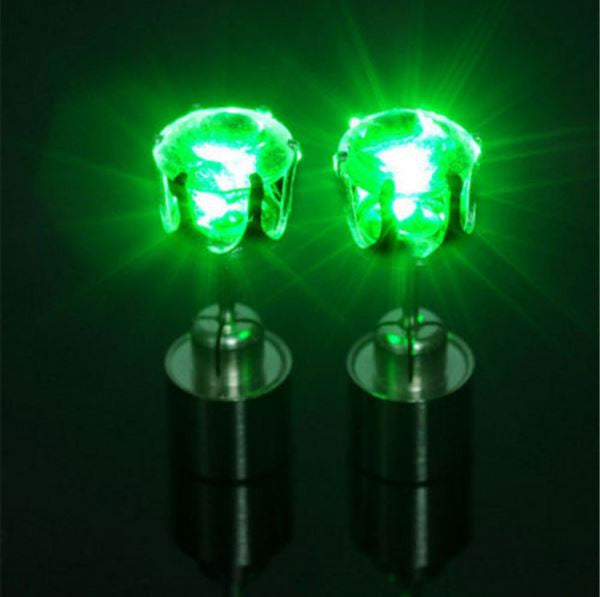 Light Up LED Earrings - Green - Rave Nations