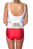 California Flag One Piece Bodysuit Women's - Rave Nations