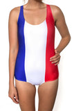 France Flag  One Piece Bodysuit Women's - Rave Nations