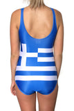 Greece Flag One Piece Bodysuit Women's - Rave Nations