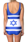 Israel Flag One Piece Bodysuit Women's - Rave Nations