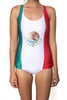 Mexico Flag One Piece Bodysuit Women's - Rave Nations