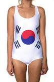 South Korea Flag One Piece Bodysuit Women's - Rave Nations
