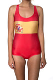 Spain Flag One Piece Bodysuit Women's - Rave Nations