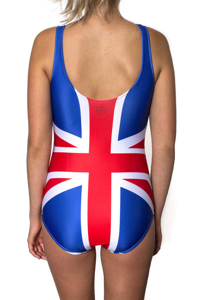 United Kingdom Flag One Piece Bodysuit Women's - Rave Nations