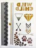 Wild Child Collection - Metallic Tattoos - Rave Nations