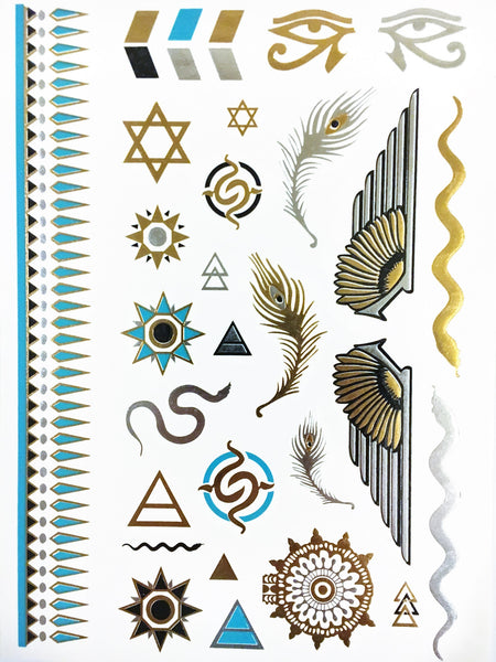 Egyptian Goddess Collection - Metallic Tattoos - Rave Nations