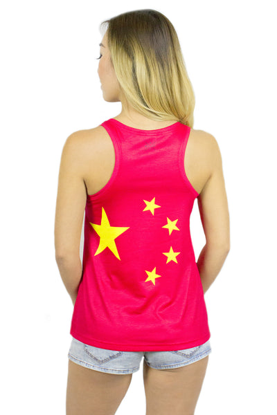 China Flag Tank Top Women's - Rave Nations