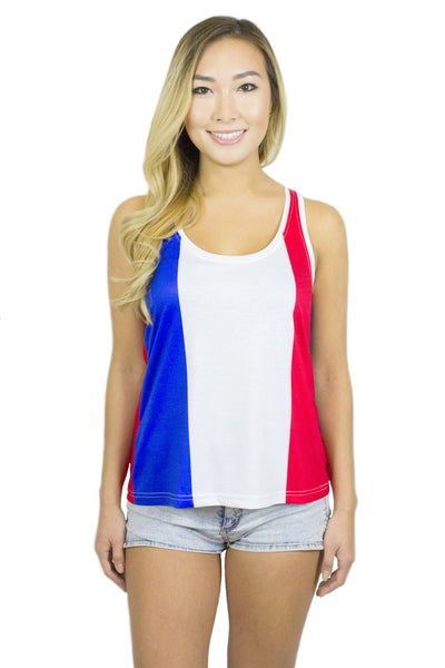 France Flag Tank Top Women's - Rave Nations