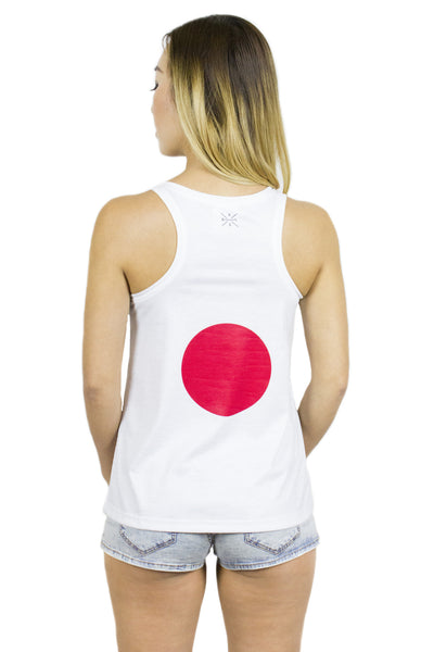 Japan Flag Tank Top Women's - Rave Nations