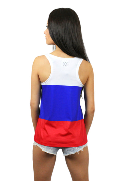 Russia Flag Tank Top Women's - Rave Nations