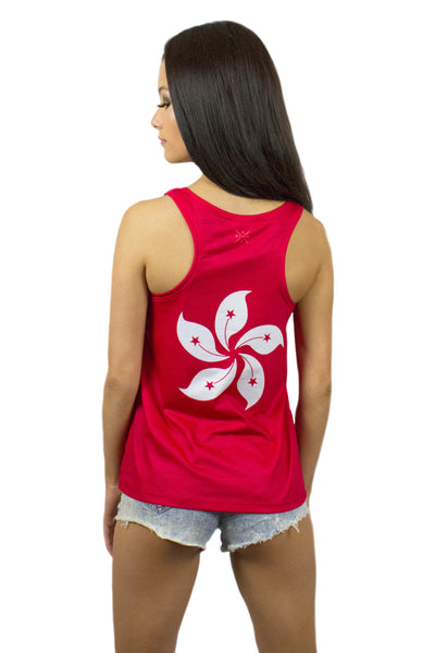 Hong Kong Flag Tank Top Women's - Rave Nations