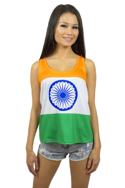 India Flag Tank Top Women's - Rave Nations