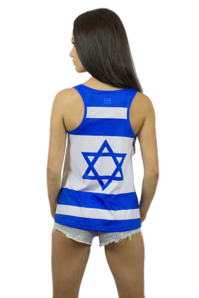 Israel Flag Tank Top Women's - Rave Nations