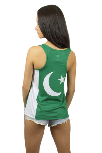 Pakistan Flag Tank Top Women's - Rave Nations