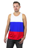 Russia Flag Tank Top Men's - Rave Nations