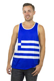Greece Flag Tank Top Men's - Rave Nations