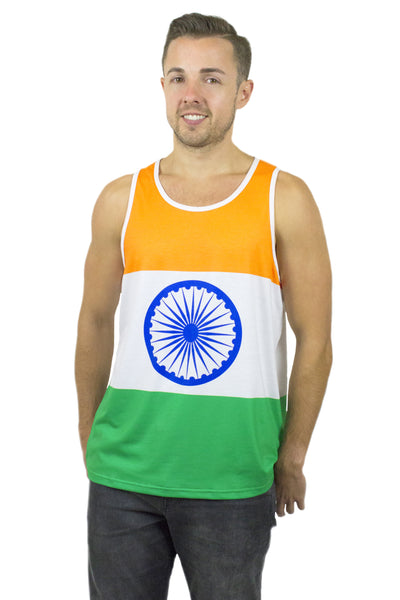 India Flag Tank Top Men's - Rave Nations