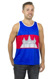 Cambodia Flag Tank Top Men's - Rave Nations