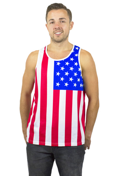 USA Flag Tank Top Men's - Rave Nations