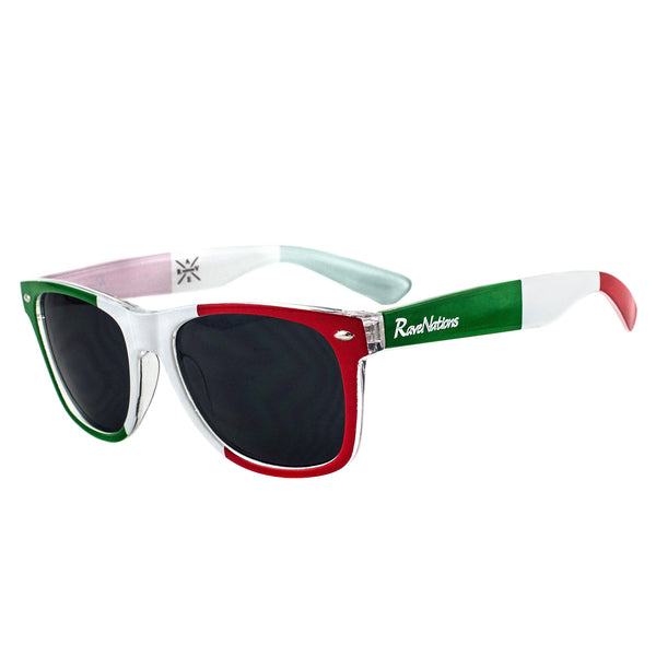 Italy Flag Sunglasses - Rave Nations