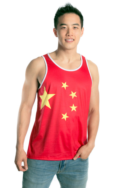China Flag Tank Top Men's - Rave Nations