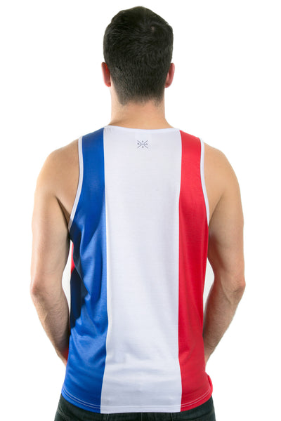 France Flag Tank Top Men's - Rave Nations