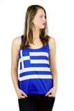 Greece Flag Tank Top Women's - Rave Nations