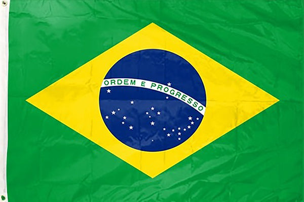 Brazil 3 x 5 ft Flag - Rave Nations