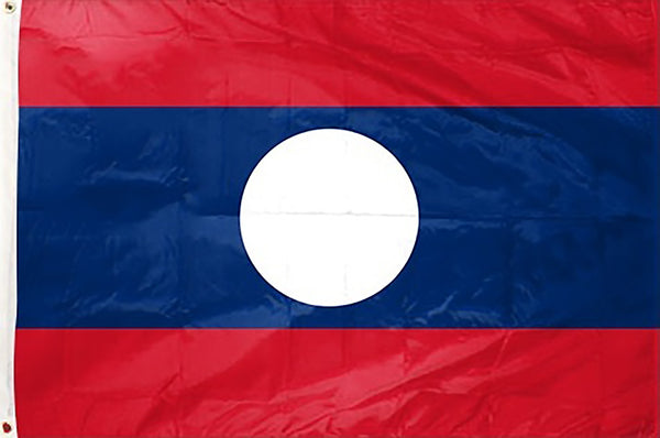 Laos 3 x 5 ft Flag - Rave Nations