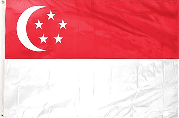 Singapore 3 x 5 ft Flag - Rave Nations