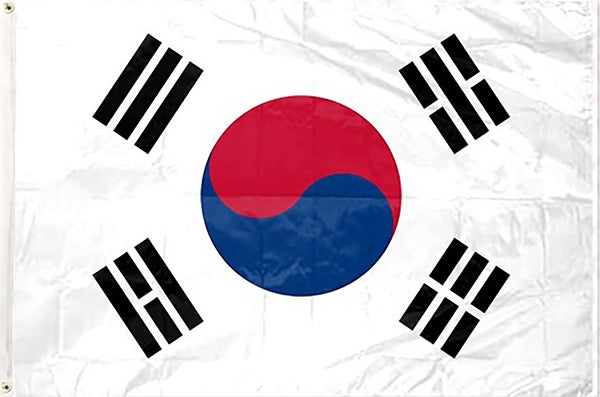 South Korea 3 x 5 ft Flag - Rave Nations