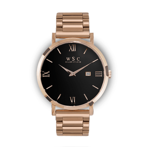 Roma  Rose Gold Mesh Stainless Steel