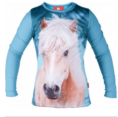 Red Horse Pixel bluse