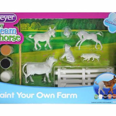 Breyer Paint Your Own Farm malesæt