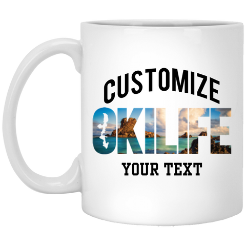 OKILIFE Custom 11 oz. White Mug