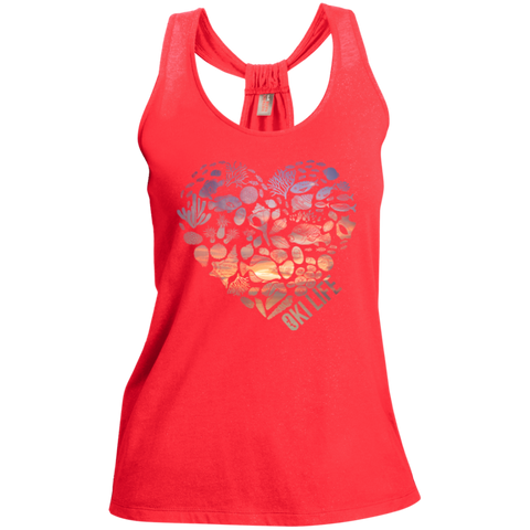 OkiLife Ladies Shimmer Heart Tank