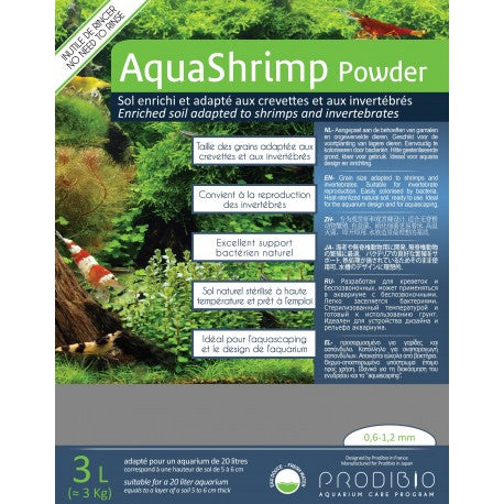 Prodibio Aquashrimp Powder Soil 3kg