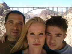 Joi and David with there son at Hoover Damn