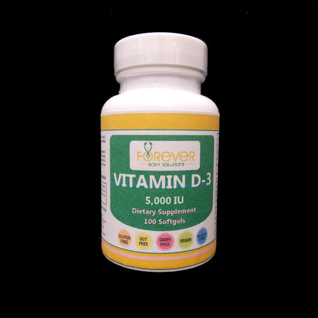 High Potency Vitamin D3 5000 IU 100 Soft Gels
