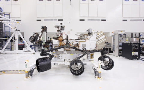 The 3m, 890kg Perseverance Rover is powered by a radioisotope generator.