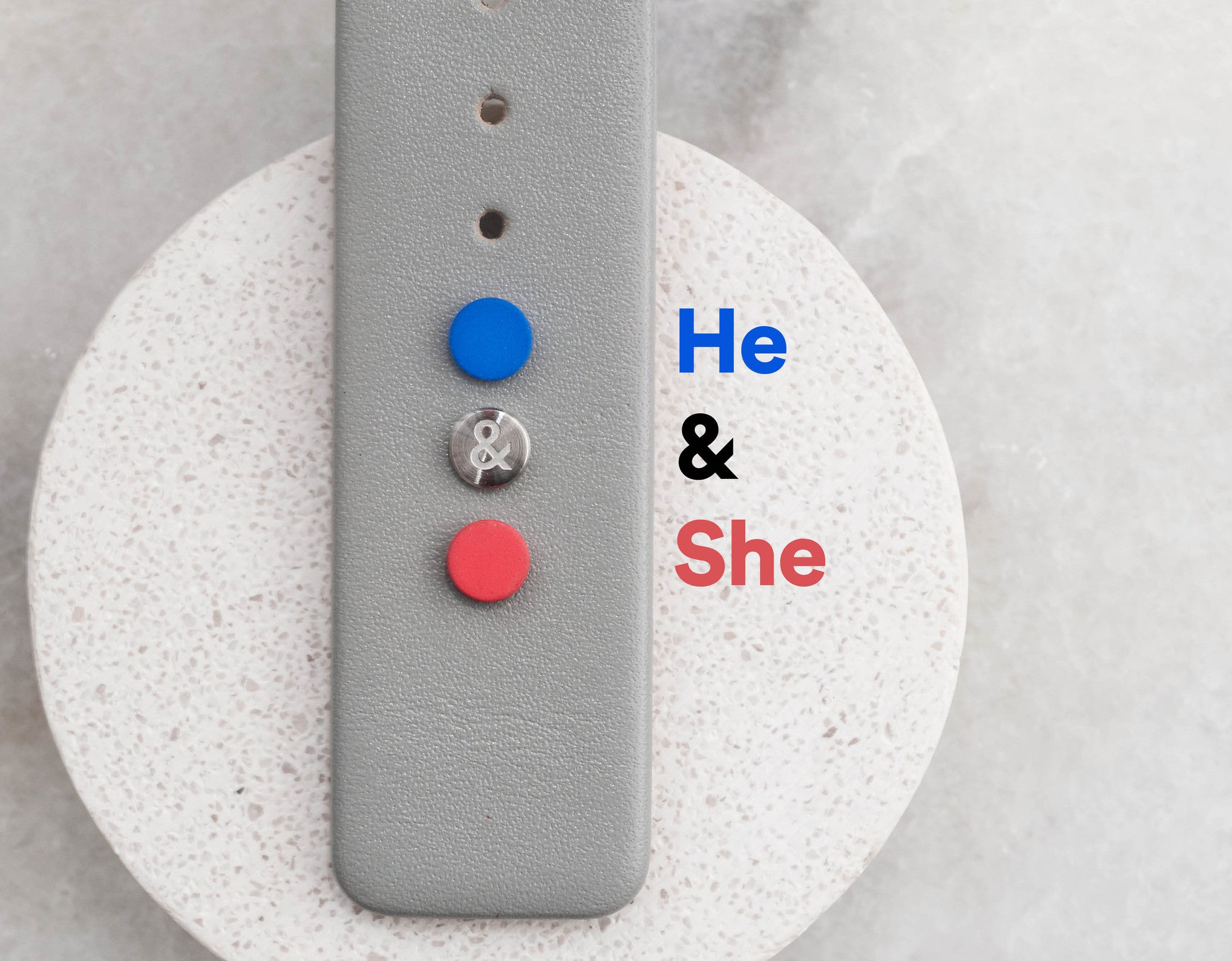 He & She - Leather strap with planet buttons (For series K452 & 000) - Anicorn