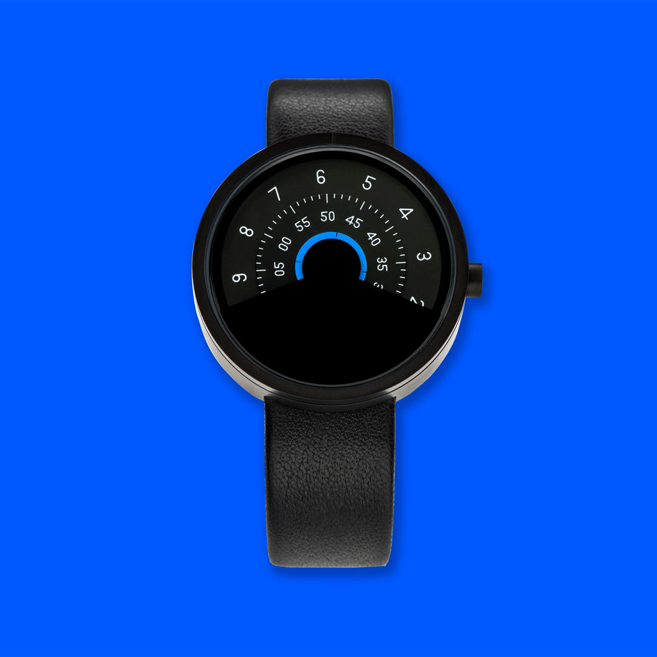 ANICORN Series 000 - Black & Blue Automatic Watch